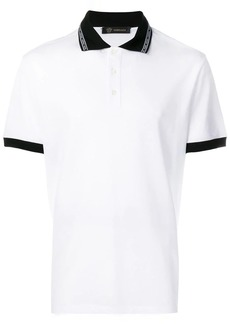 Versace logo collar polo shirt