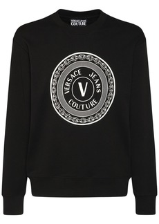 Versace Logo Cotton Crewneck Sweatshirt