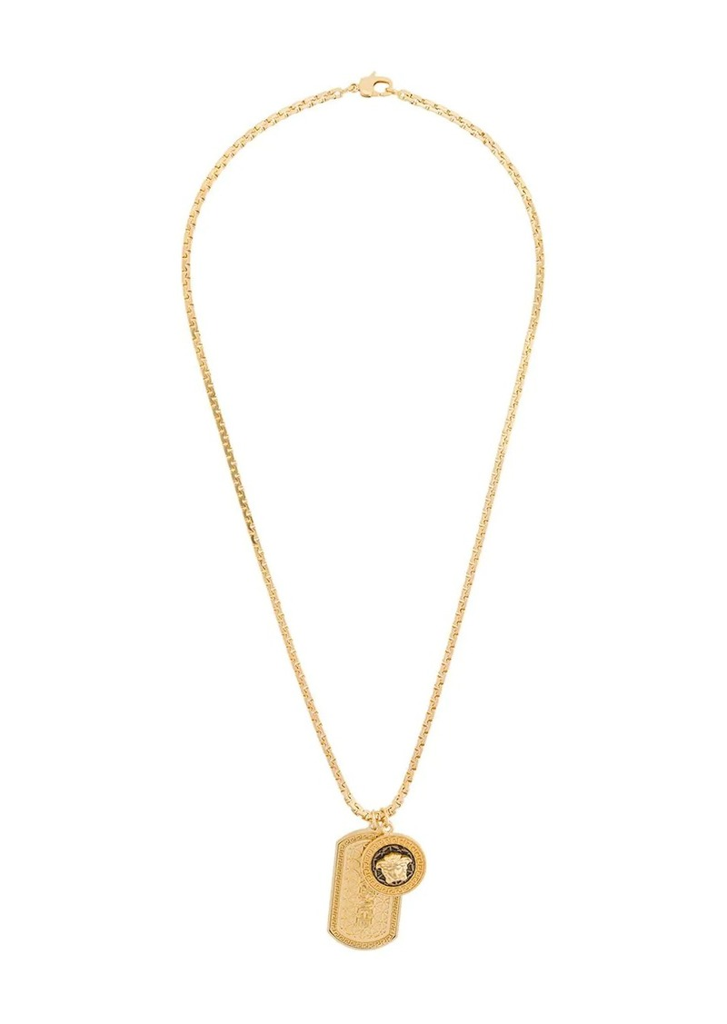 Versace logo dog-tag necklace