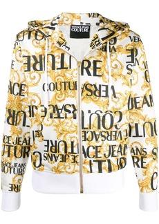 Versace logo drawstring hoodie