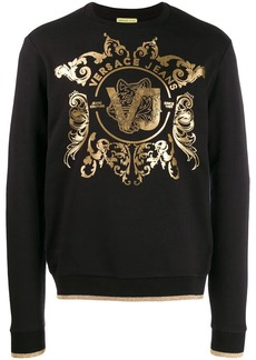 Versace logo embellished sweater