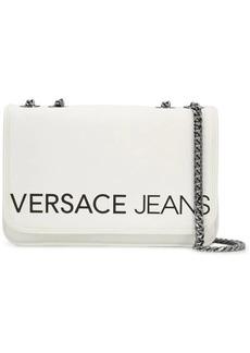 Versace logo flap shoulder bag