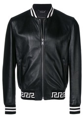 Versace logo-hem bomber jacket