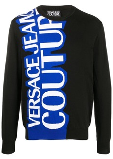Versace logo intarsia relaxed-fit jumper