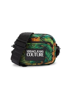 Versace Logo Jungle-Print Crossbody Bag