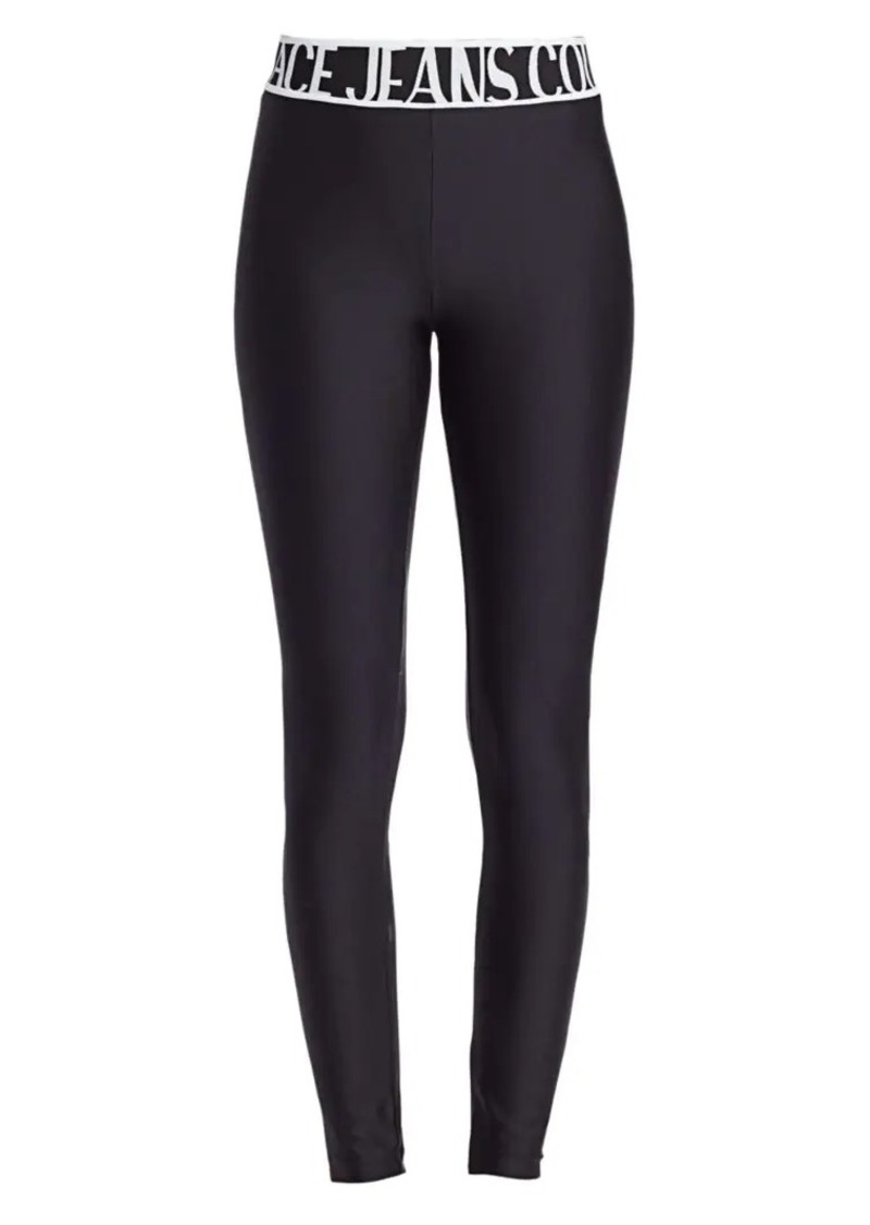 Versace Logo Lady Solid Leggings