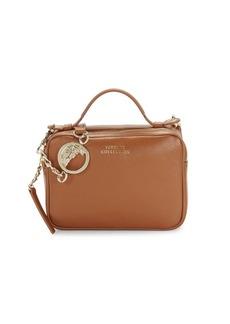 Versace Logo Leather Crossbody Bag