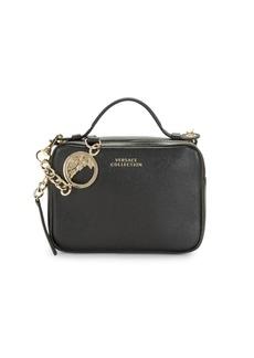 Versace Logo Leather Shoulder Bag