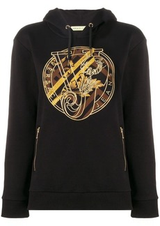 Versace logo patch hoodie