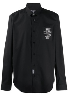 Versace logo patch relaxed fit shirt