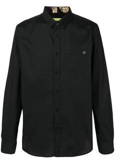 Versace logo patch shirt