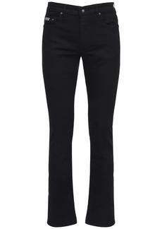 Versace Logo Patch Slim Cotton Denim Pants