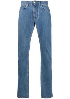 Versace logo-patch straight-leg jeans