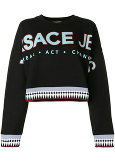 Versace logo patch sweatshirt