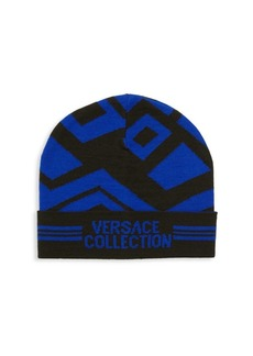 Versace Logo Patterned Hat