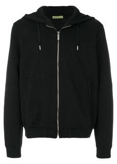 Versace logo patterned hooded jacket