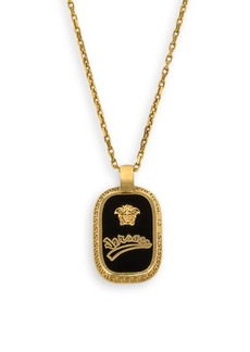 Versace Logo Pendant Necklace