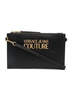 Versace logo-plaque clutch bag