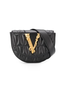 Versace logo plaque quilted belt bag