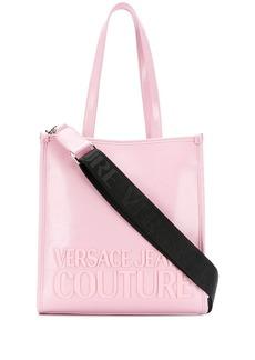 Versace logo plaque tote bag