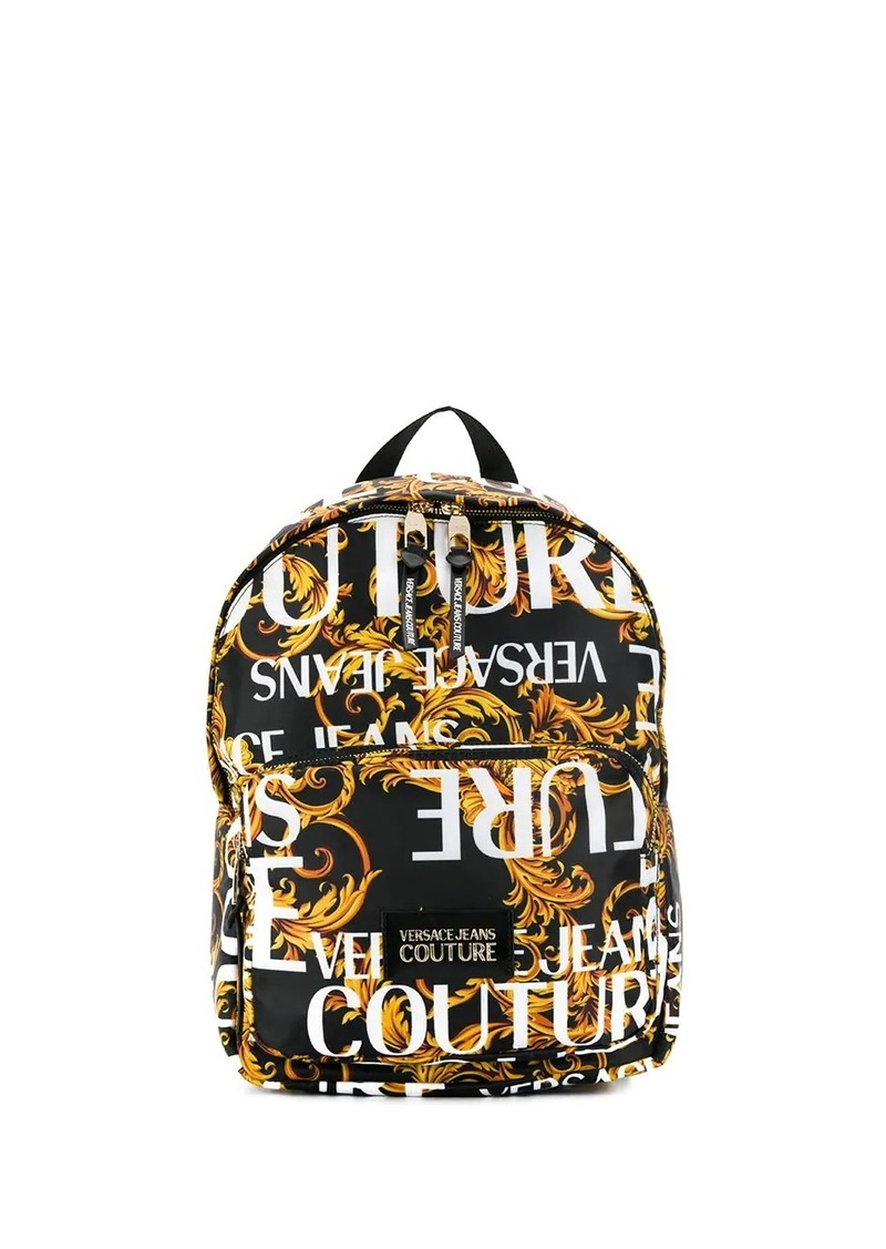 Versace logo print backpack