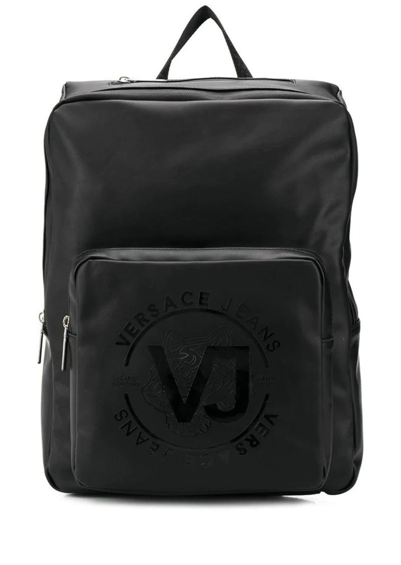 0bbb515a86a Versace logo print backpack | Bags