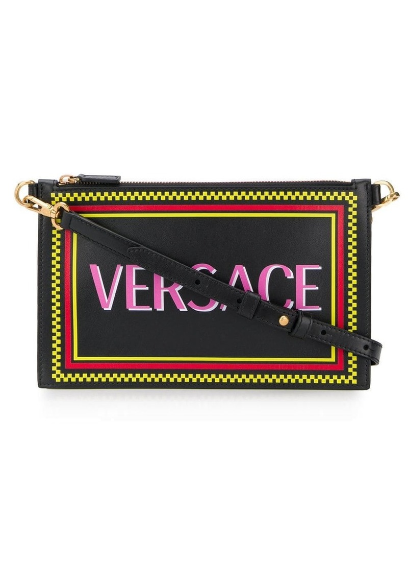 Versace logo print clutch bag