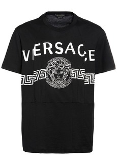Versace Logo Print Cotton T-shirt