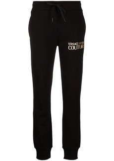 Versace logo print cotton track trousers