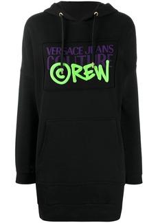 Versace logo print hoodie dress