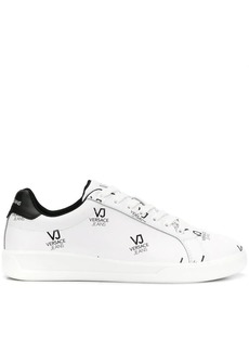 Versace logo print low-top sneakers