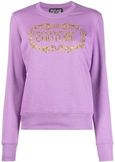 Versace logo-print sequin-detailed sweatshirt