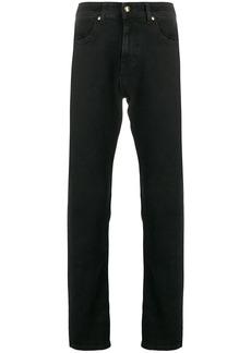 Versace logo print straight jeans