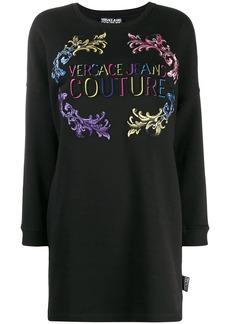Versace logo print sweatshirt dress