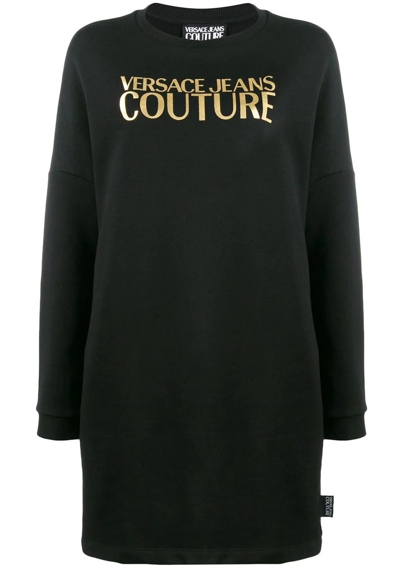 Versace logo print sweatshirt dress