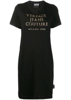 Versace logo print T-shirt dress