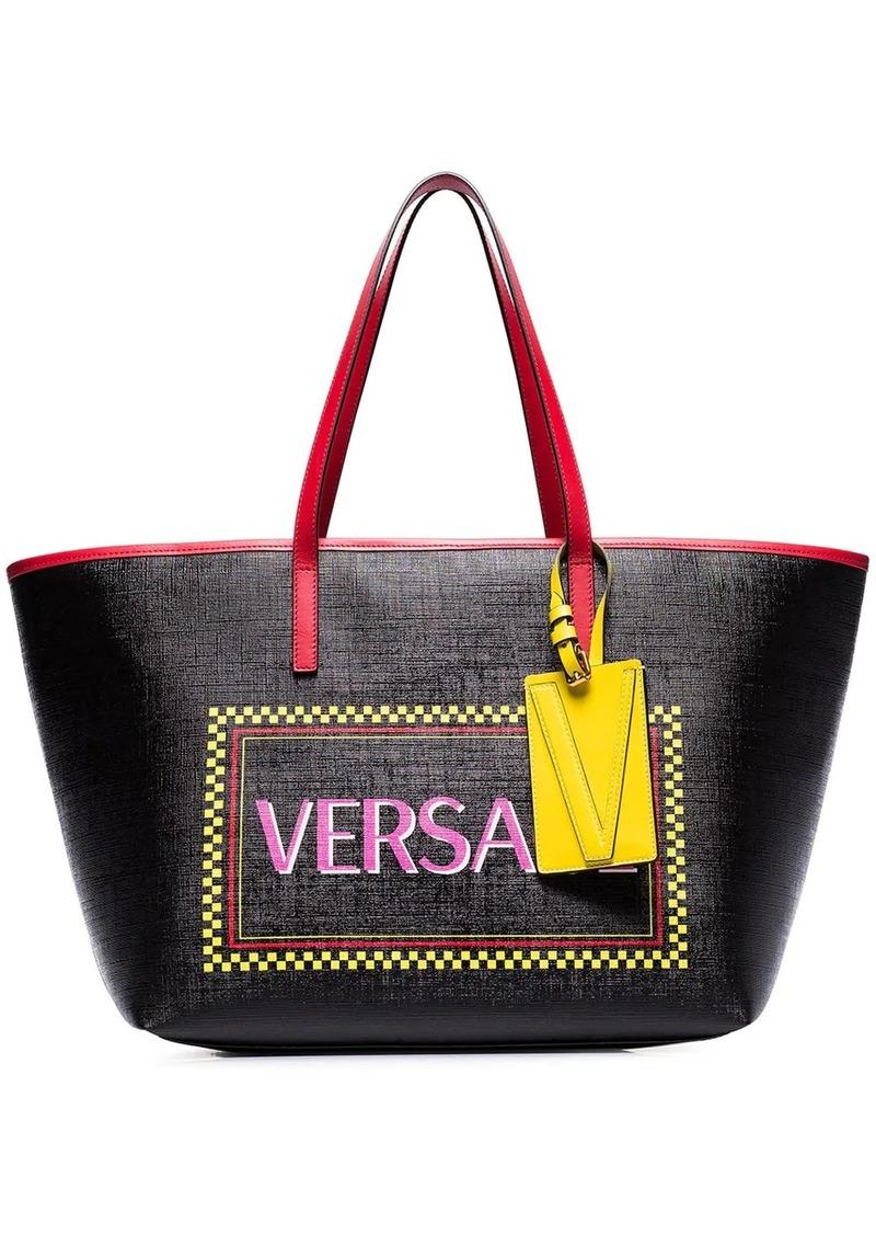 Versace logo-print tote