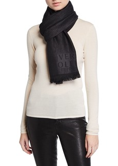 Versace Logo-Print Wool Wrap