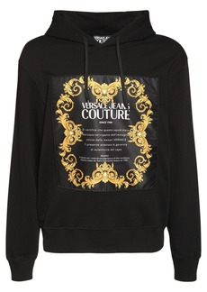 Versace Logo Printed Cotton Sweatshirt Hoodie
