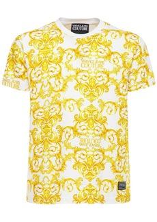 Versace Logo Printed Cotton T-shirt