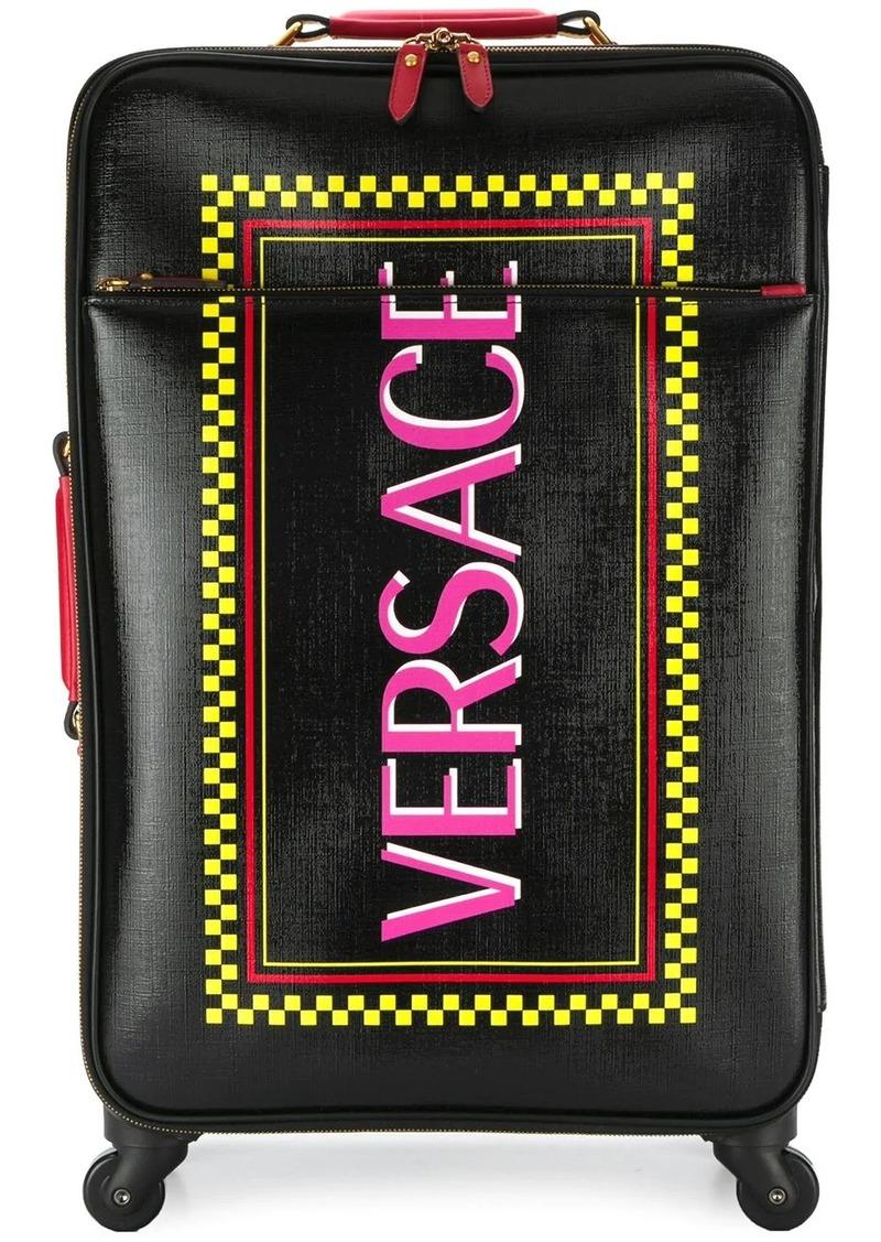 Versace logo printed suitcase