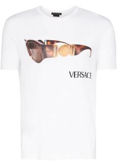 Versace sunglasses logo print T-shirt
