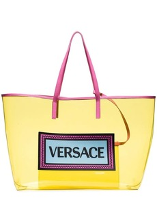 Versace Yellow Logo PVC Tote Bag