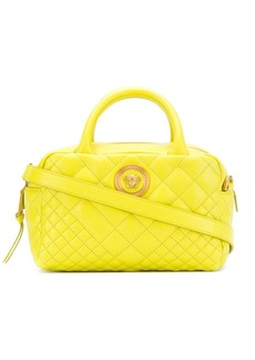 Versace logo quilted shoulder bag
