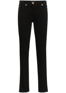 Versace logo side detail skinny jeans