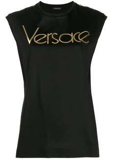 Versace logo sleeveless T-shirt