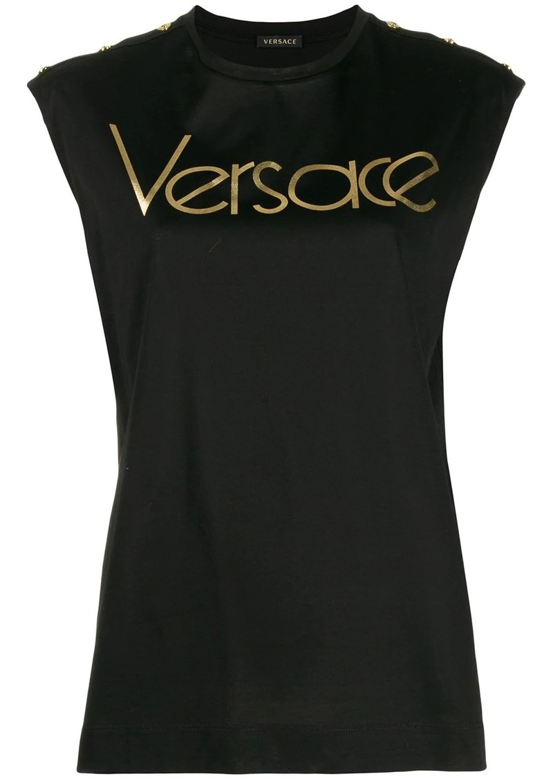 Versace logo sleeveless T-shirt