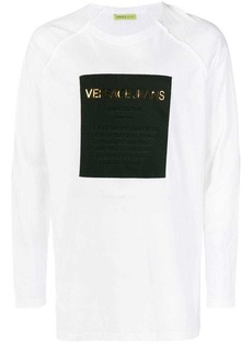 Versace logo square patch top
