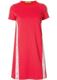 Versace logo stripe shift dress