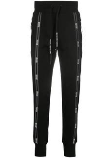 Versace logo stripe track pants